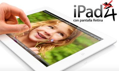 iPad de cuarta generación. Comparativa del nuevo iPad con pantalla Retina con el más nuevo aún