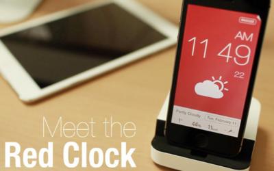 Red Clock, un reloj-despertador completo y atractivo para nuestro iPhone