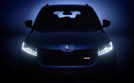 El Škoda Kodiaq RS muestra más armas en este vídeo teaser: instrumentación digital y mucha deportividad