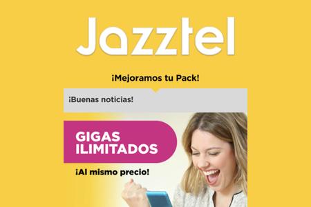 Los datos ilimitados de Jazztel, de momento sólo disponibles para los clientes más fieles