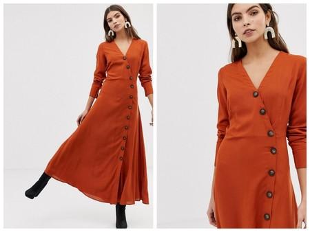 Vestido Largo Naranja