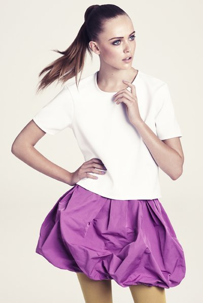 HM falda rosa