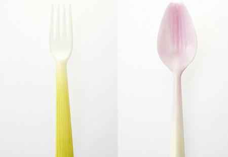 Sugerentes utensilios biodegradables con forma de vegetales