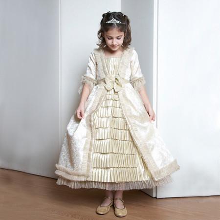 Vestido de niña princesa de Karl Lagerfeld en tul y brocado