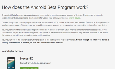 Android Beta Program: actualiza tu Nexus vía OTA a las versiones preliminares de Android