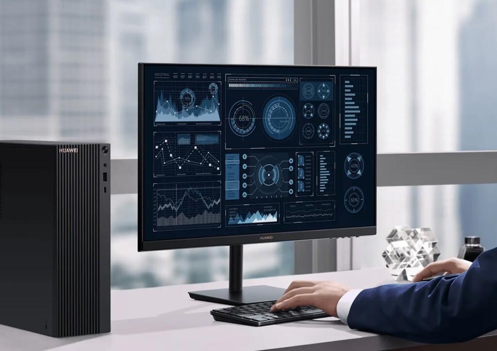 El primer PC de Huawei llega con AMD Ryzen 100%0, monitor y teclado inalámbrico conectado con el móvil