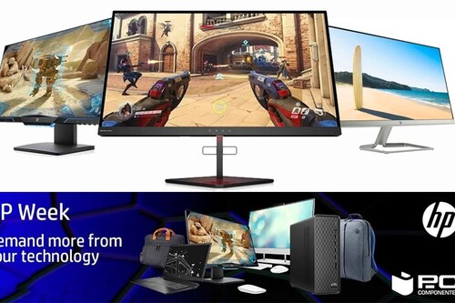 HP Week en PcComponentes: ofertas en monitores gaming y de trabajo con descuentos de hasta el 17%