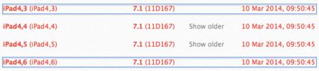 Según iOS 7.1 tendremos dos nuevos iPad