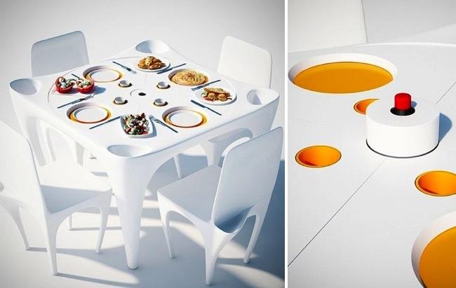 mesas anti viento para comer en exteriores