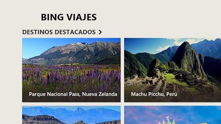 Viajes app para Windows 8/RT