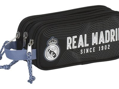 Estuche de tres compartimentos del Real Madrid por 15,90 euros en Amazon