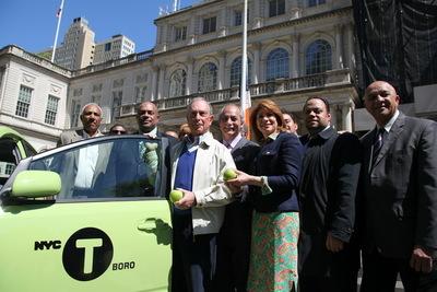Nueva York tendrá también taxis color verde manzana