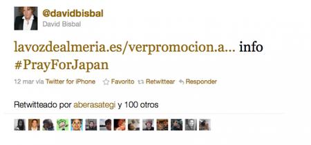 Bisbal a lo suyo: ¿Terremoto en Japón? Yo me promociono en Twitter