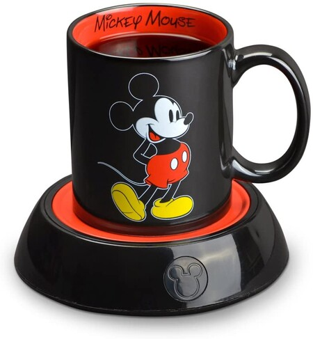 Taza y calentador de taza de Mickey Mouse en Amazon México, Disney+