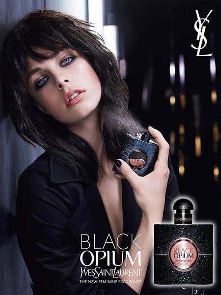 Edie Campbell nos presenta Black Opium, el nuevo perfume de YSL