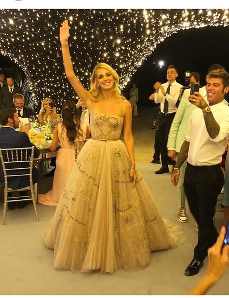 el segundo vestido de chiara ferragni cuenta su historia de amor, y