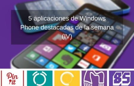 5 aplicaciones de Windows Phone destacadas de la semana (IV)