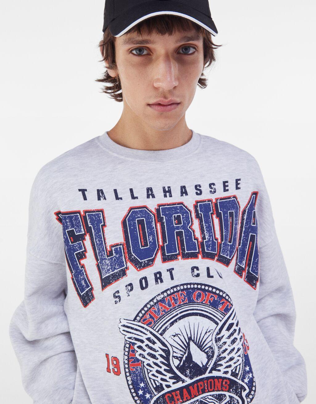 Sudadera print oversize Florida de bershka