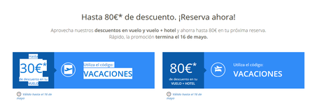 Sólo hoy: ahorra hasta 80 euros en tus vacaciones gracias a eDreams