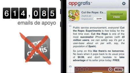 AppGratis pide ayuda a los usuarios para volver a la App Store