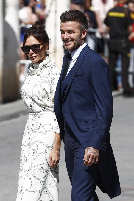 Así de bien ha lucido chaqué David Beckham en la boda de Sergio Ramos y Pilar Rubio