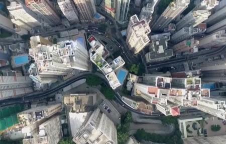 La espectacular estampa que nos deja Hong Kong a vista de drone