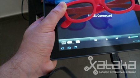 LG optimus 3D grabación