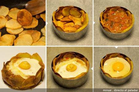 Huevos al plato - elaboración