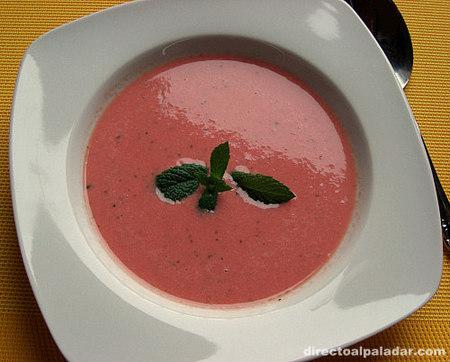 Sopa fría de sandía. Receta