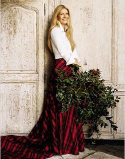 Gwyneth Paltrow y Estée Lauder se visten de tartan por Navidad