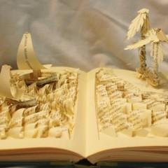 Foto 5 de 5 de la galería esculturas-en-libros en Papel en Blanco