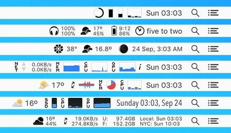 iStat Menus 6, así luce la renovada barra de notificaciones para tu Mac: App de la Semana