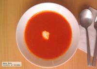 Sopa de pimientos rojos. Receta