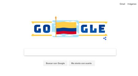 Google se une a la celebración del Día de la Independencia de Colombia con su doodle
