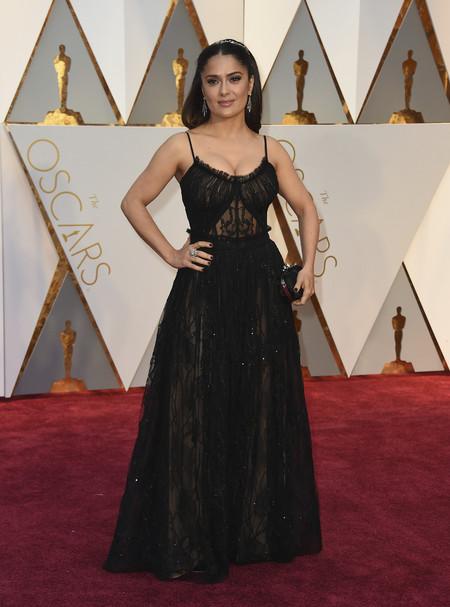 Salma Hayek Mcqueen Oscars 2017