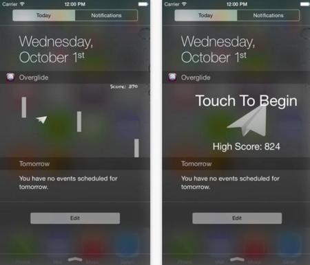 Overglide, el primer juego que llega como widget al Centro de Notificaciones de iOS