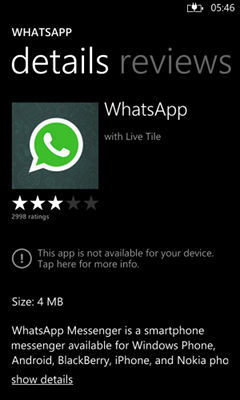 "WhatsApp para Windows Phone 8 estará disponible ""a finales de esta semana"""