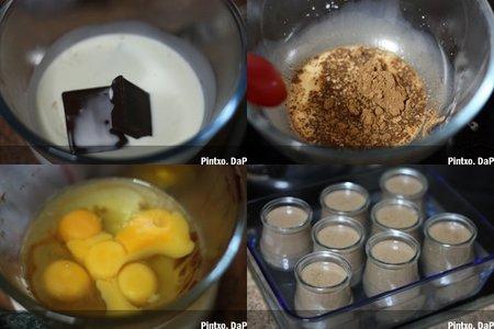 Terrinas de crema de chocolate. Pasos