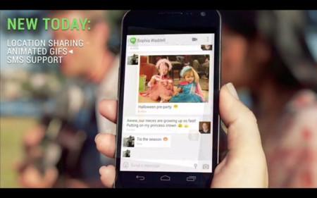 SMS, ficheros .gif y localización llegan a Google Hangouts