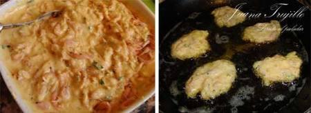 Preparación de las Tortitas de camarones