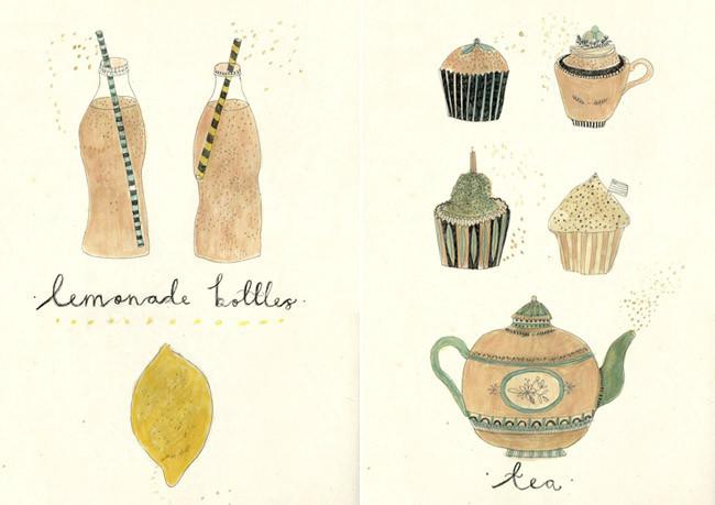 Las encantadoras ilustraciones gastronómicas de Katt Frank
