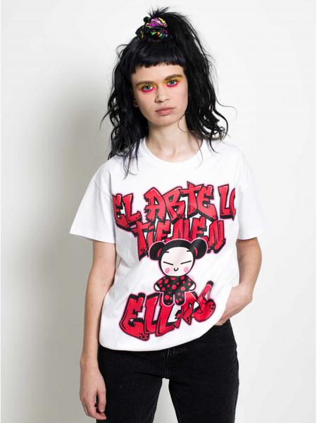 El Arte White T Shirt maria escote pucca