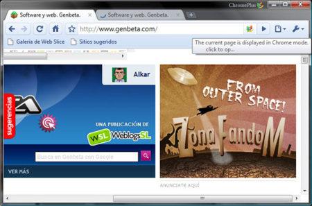 Chrome Plus IE Tab
