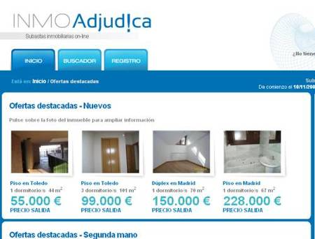 INMOAdjud!ca, web de subastas de viviendas