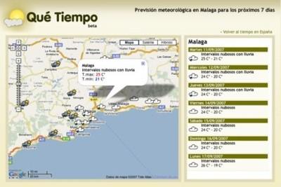 Qué tiempo hace en 1000 localidades españolas