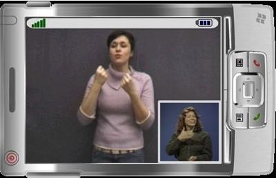 Lenguaje de signos a través de videollamadas