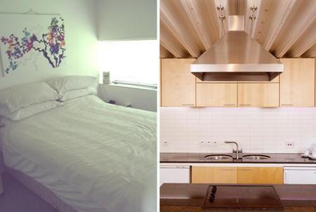 casas que inspiran - chalet - cocina y dormitorio