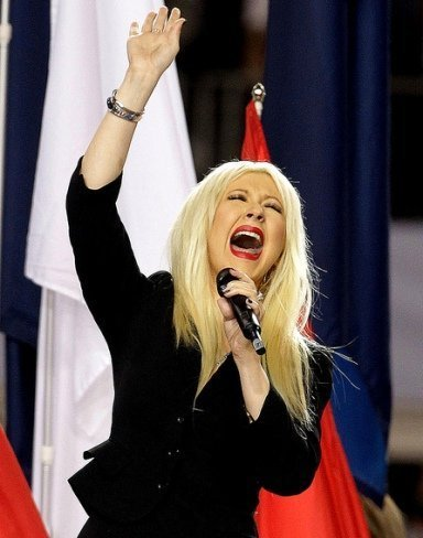 Christina Aguilera Superbowl
