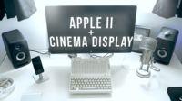 La imagen de la semana: El Apple IIc que se conectó a una Cinema Display