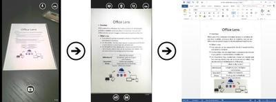 Office Lens ahora puede convertir fotos de documentos y pizarras en archivos de Word y PowerPoint